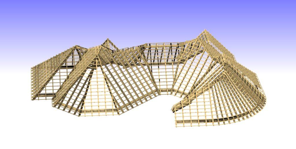 Dachstuhlplanung für CNC-Maschine